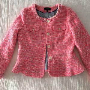 Jcrew pink tweed blazer, size 4